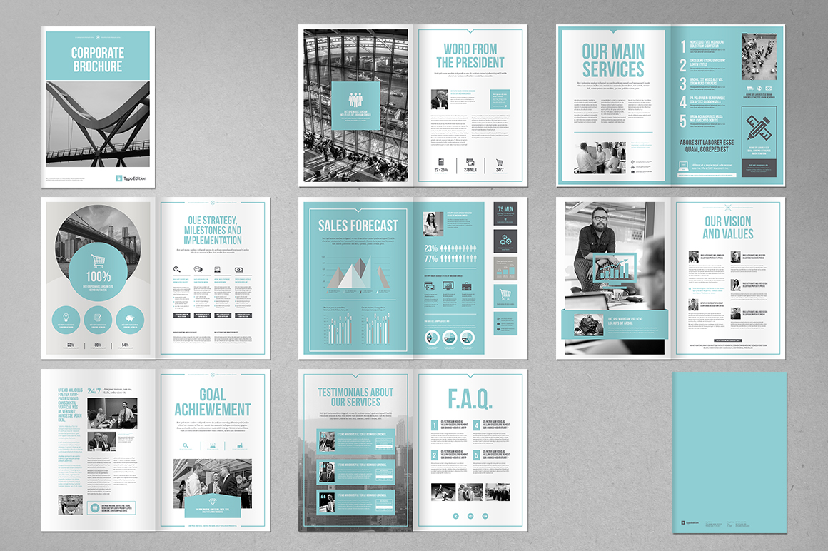 corporate brochures templates - corporate brochure typoedition