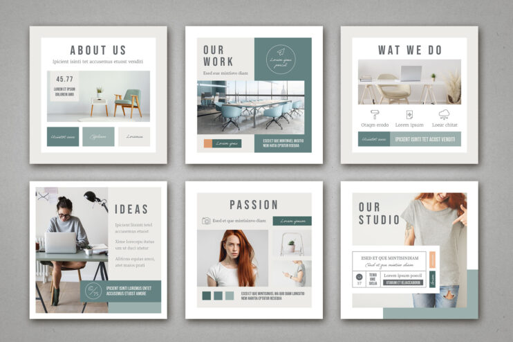 Instagram Square Post Template PSD